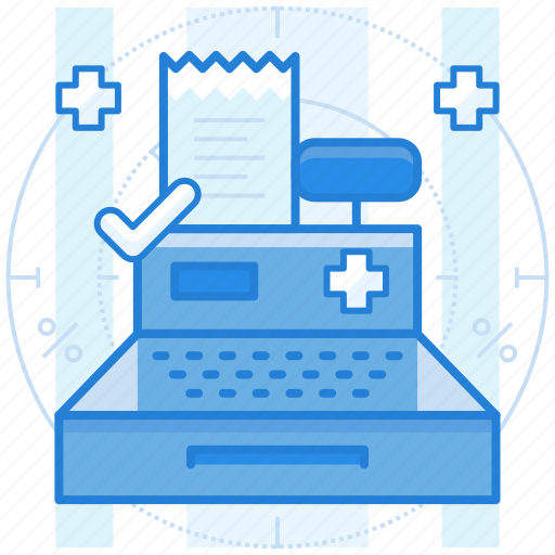 bill, medical, payment, register icon