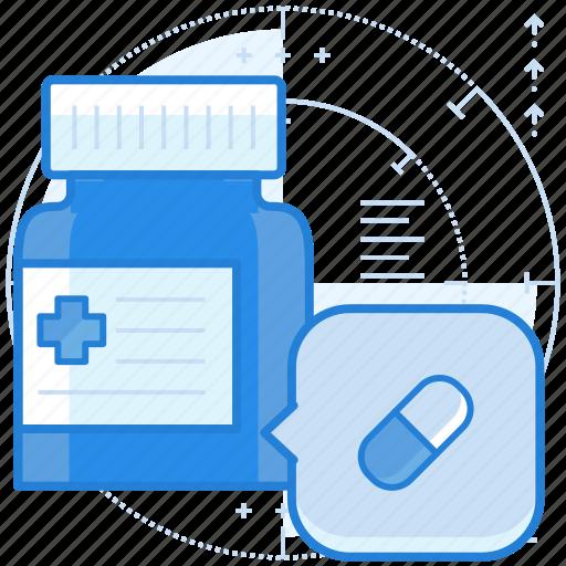 medication, medicine, pill icon