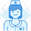 medical, nurse, staff icon