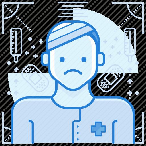 Injured, patient, sick icon - Download on Iconfinder
