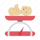 baby weight, child scale, child weight, hospital, newborn baby, scale icon
