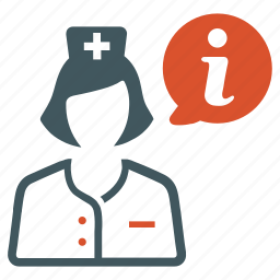 doctor, info, information, medicine, nurse, user icon