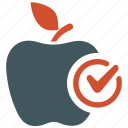 apple, diet, diet food, healthy, patient icon