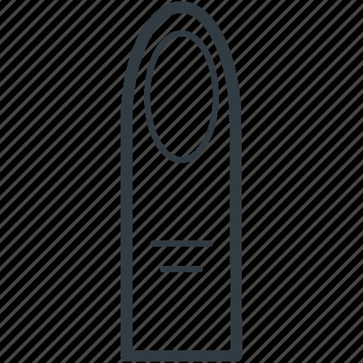 body organ, finger, finger with nail, human finger, human organ icon