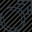 gender symbol, male, male gender, man, sex symbol icon
