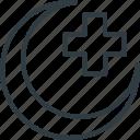 hospital sign, hospital symbol, hospital logo, medical cross, moon