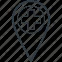 location pin, hospital location, health clinic, hospital direction, hospital pin