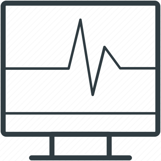ecg, ecg machine, electrocardiograph, heart check up, heart rate machine icon