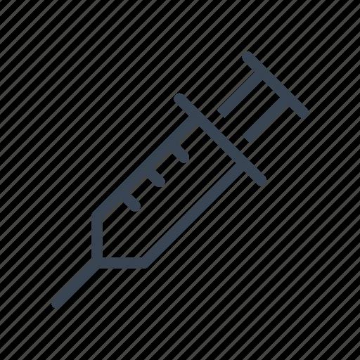 injection, medical, medicine, syringe, vaccine icon