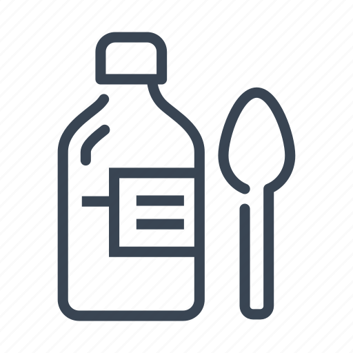 Bottle, healthcare, medical, medicine, spoon, syrup icon - Download on Iconfinder