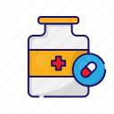 antibiotic, medical, medication, pharmacy, pill, tablet, vitamin icon