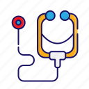doctor, equipment, medical, stethoscope icon