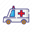 ambulance, medical, transport, van icon