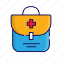 first aid kit, medical, medical kit, suitcase icon icon