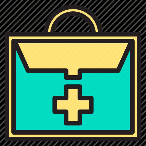 bag, body, health, heart, hospital icon