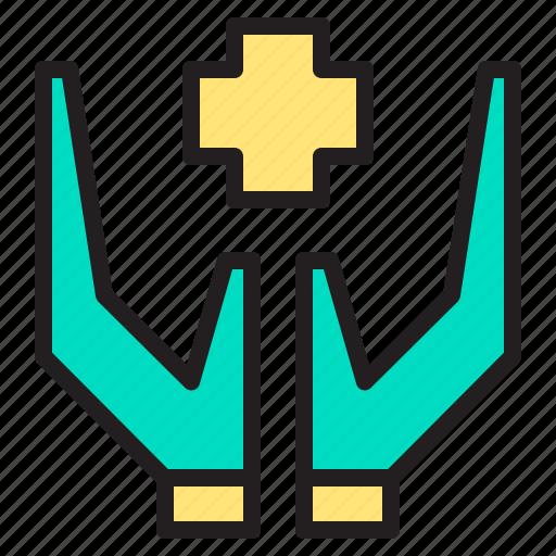 body, doctor, hand, health, heart, hospital icon