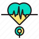 body, doctor, health, heart, hospital, pulse icon