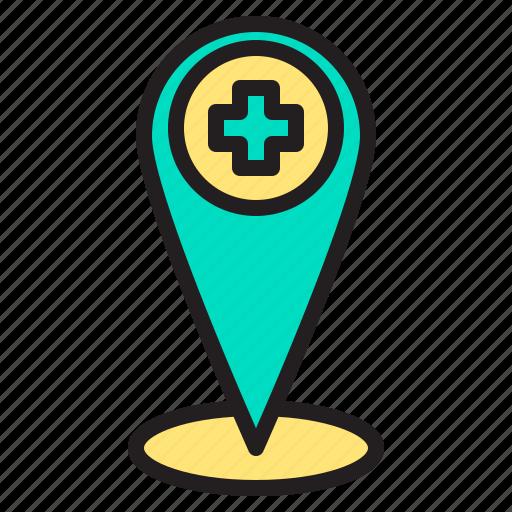 body, doctor, health, heart, hospital, position icon