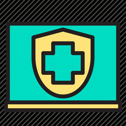 body, doctor, health, heart, hospital, laptop, website icon