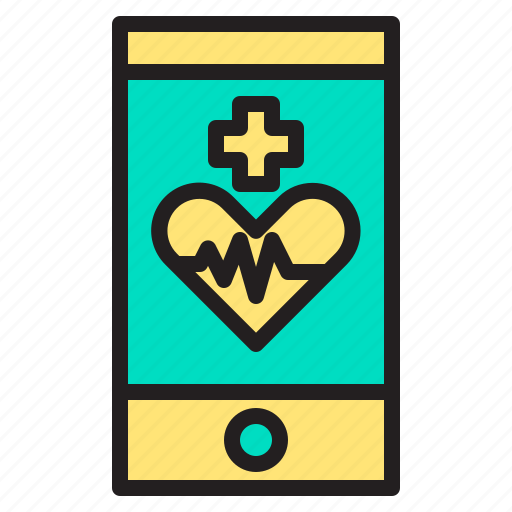 body, doctor, health, heart, hospital, mobile icon