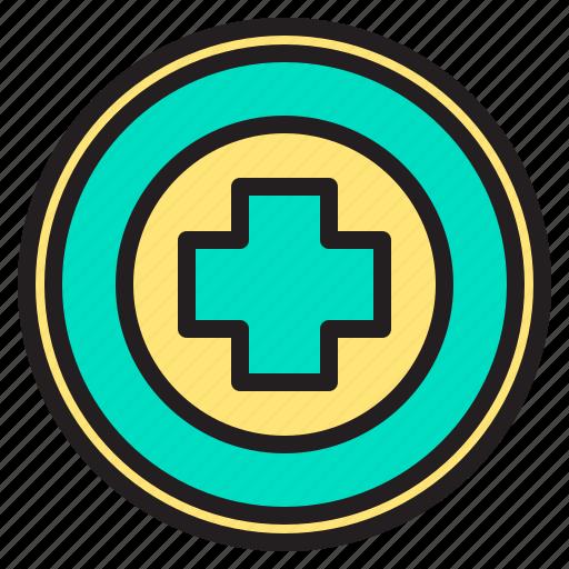 body, buttom, doctor, health, heart, hospital, panic icon