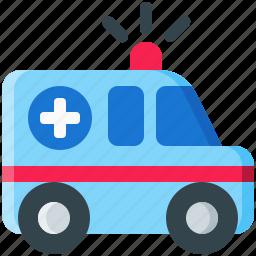 ambulance, emergency, medical, medicine, truck, vehicle icon