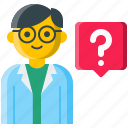 ask, doctor, healthcare, help, nurse, question, specialist icon