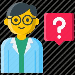 ask, doctor, healthcare, help, nurse, question, specialist icon