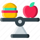 balance, balanced, diet, food, gastronomy, healthy, meal icon