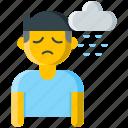 cloud, depression, emo, moody, rain, sad, unhappy icon