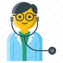 care, clinic, doctor, healthcare, hospital, nurse, stethoscope icon