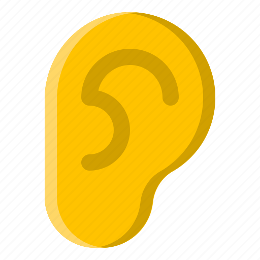 audio, ear, hear, hearing, mute, sound icon