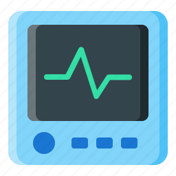 device, display, ecg, monitor, technology icon