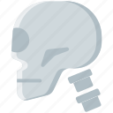 bone, head, skeleton, skull icon