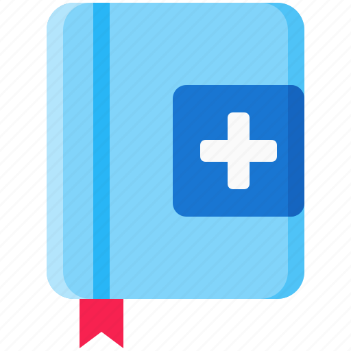book, healthcare, journal, log, medical, medication, record icon