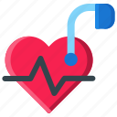 cardiology, device, healthcare, heart, heartbeat, medical, pacemaker icon