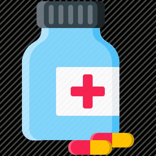 bottle, drug, drugs, medicine, pharmacy, pill, pills icon
