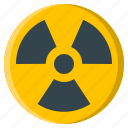 hazard, nuclear, radiation, radioactive, radioactivity, sign, warning icon