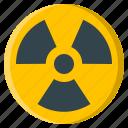 radioactive, hazard, nuclear, radiation, radioactivity, sign, warning
