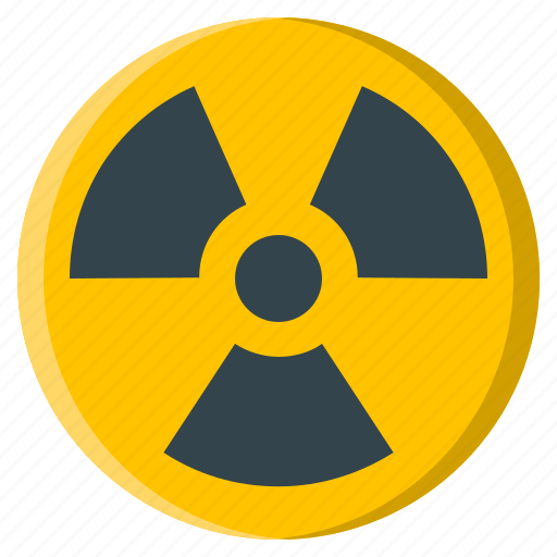 hazard, nuclear, radiation, radioactive, radioactivity, sign, warning icon