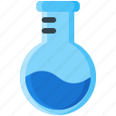 bottom, experiment, flask, lab, round, test, tube icon