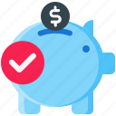 bank, banking, coin, finance, money, piggy, savings icon