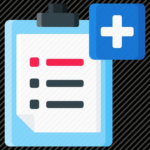 anecdote, document, list, medical, record, symptom icon