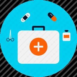 aid, box, first, first aid icon, health, medicinal, medicine icon