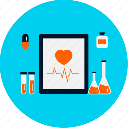 beat, cardiology, health, heart, medical, rate, treatment icon