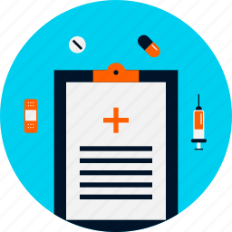 chart, diet, health, list, medical, report, reporting icon