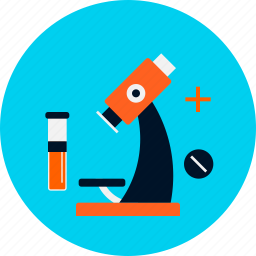 clinic, diagnostic center, health, laboratory, medical, microscope, test icon