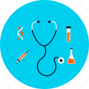 diagnosis, health, healthcare, medical, medicine, stethoscope, treatment icon