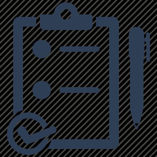 audit, checklist, clipboard, exam, test icon