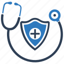 healthcare, insurance, protection, safety, shield icon